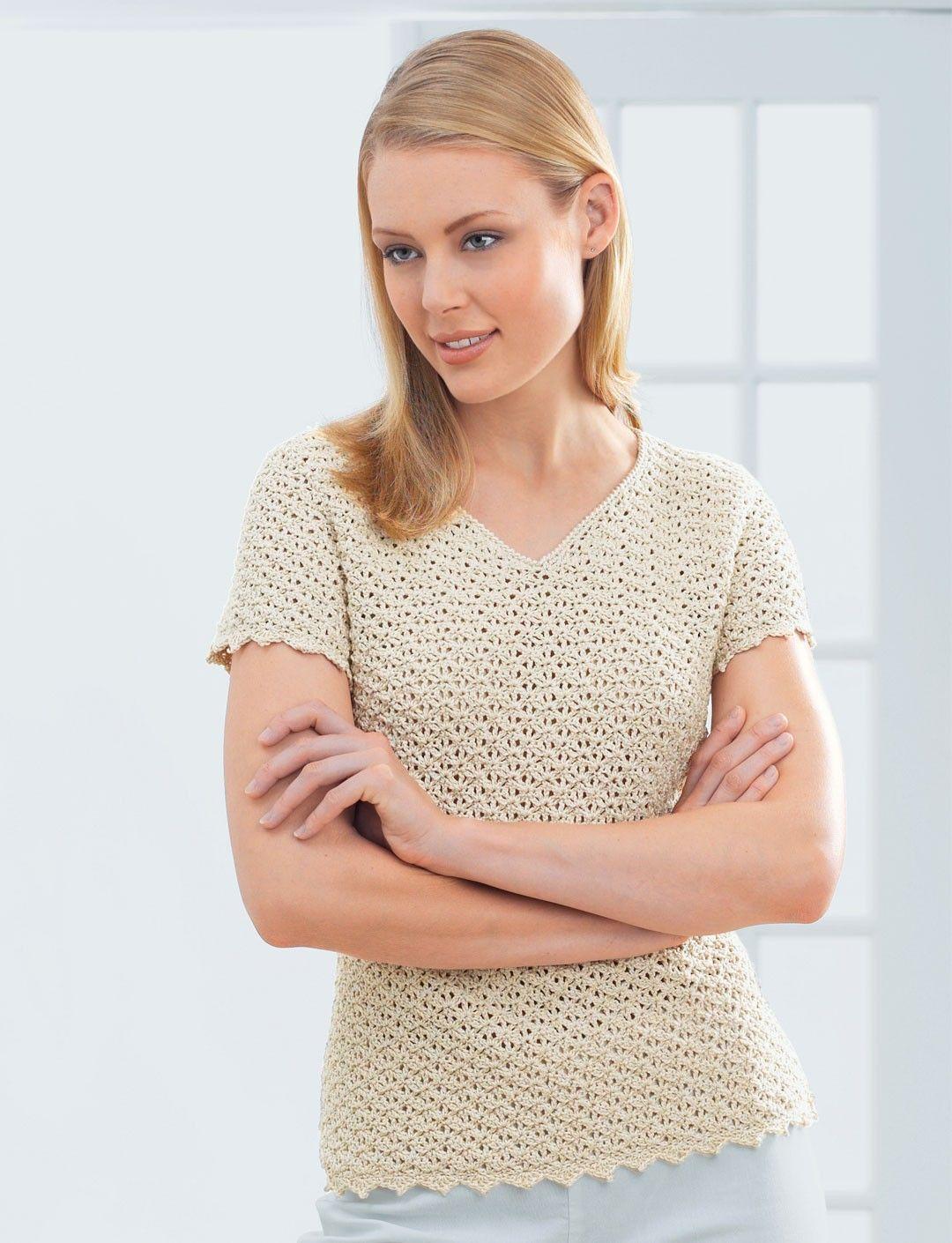 Yarnspirations.com - Patons Pretty V-Neck - Patterns ...