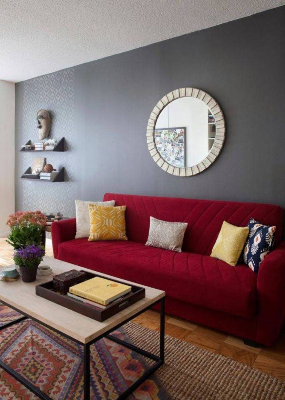 Paint Paint Living Room Walls Best Colors To Choose From Simple Dark And Light Grey Combination Fo Red Couch Living Room Red Sofa Living Room Red Sofa Living