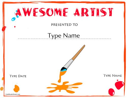 certificate makercute idea to present to the kids if we have an