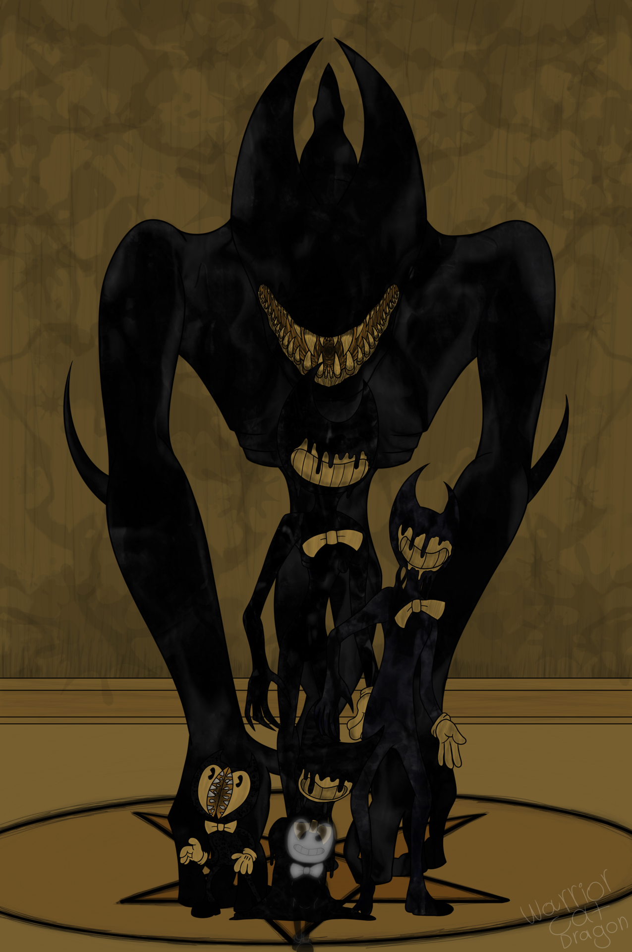 Ink Beast Bendy Tumblr Bendy And The Ink Machine Ink Beast