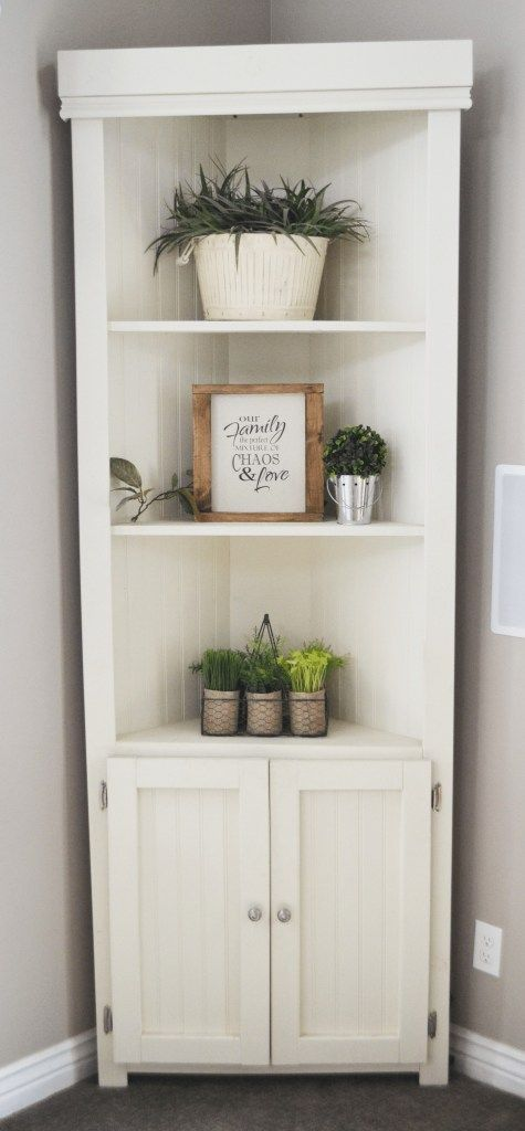 DIY Furniture - 7' Anna White Corner Cabinet - Nik Nak Shack #anawhite