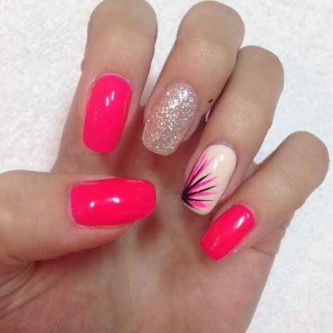 Cute Pink Nail Design 2018 new Disegni In Gel Per Unghie, Idee Per  Acconciature,