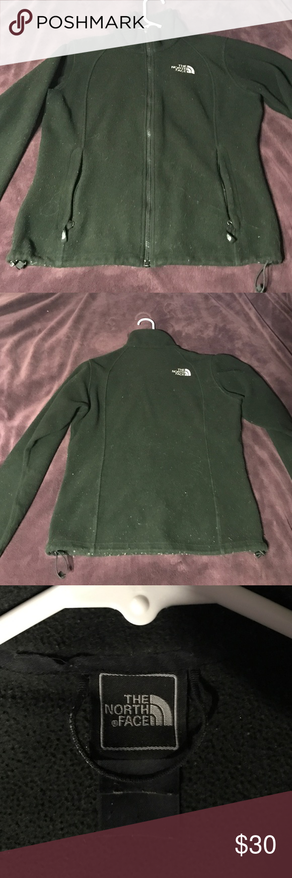 North Face • fleece zip up North face • fleece • full zip • tag is worn - small/medium • some pilling as shown in last picture • North Face Jackets & Coats