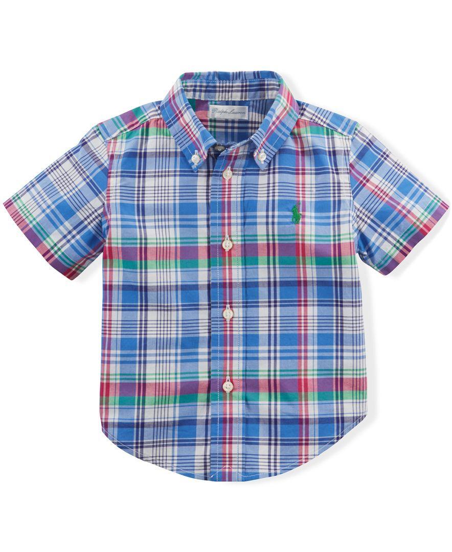 Flannel shirt for baby boy  Polo Ralph Lauren Baby Boysu Blake Plaid Shirt  Products