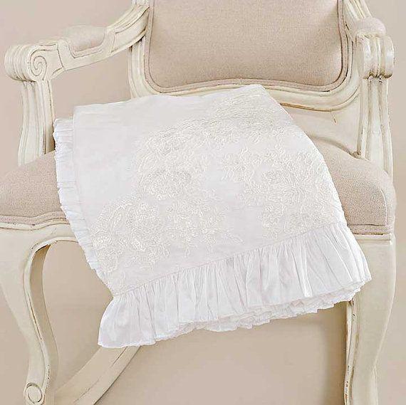 Royal Silk Christening Blanket for Baby Girls by OneSmallChild