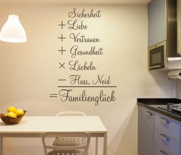 Wandtattoo Formel Fur Familiengluck Spruche Und Zitate