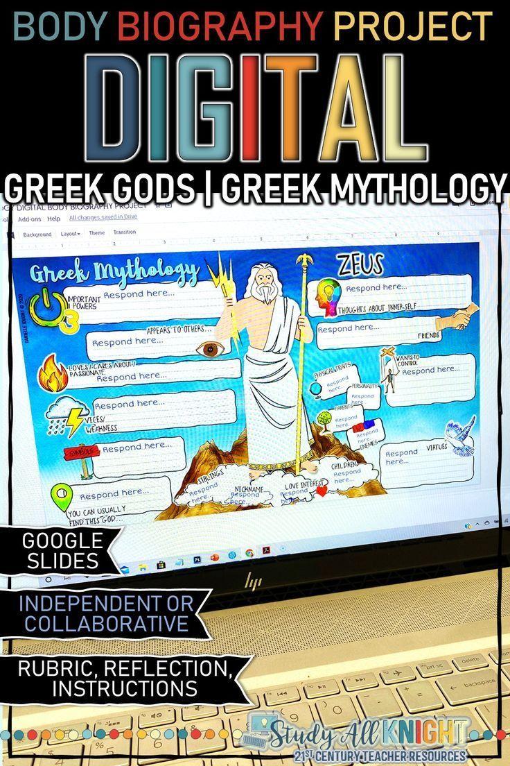 Photo of Greek Gods, Greek Mythology Digital Body Biography | Distance Learning