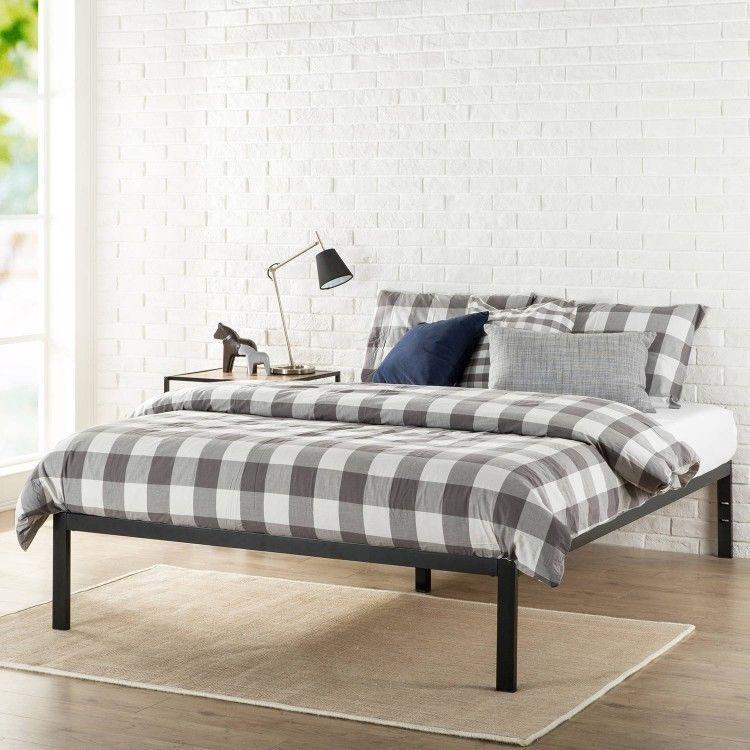 Icymi Metal Platform Queen Size Bed Heavy Duty Bedroom Frame Furniture Student Black Ebay S