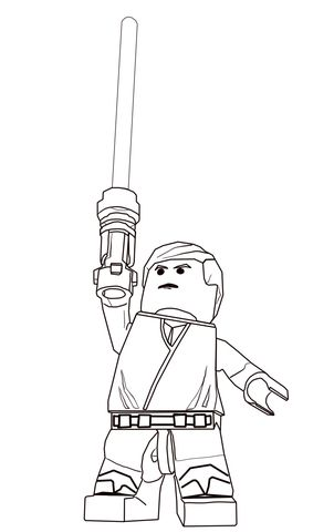 Lego Star Wars Luke Skywalker coloring page from Lego Star Wars ...