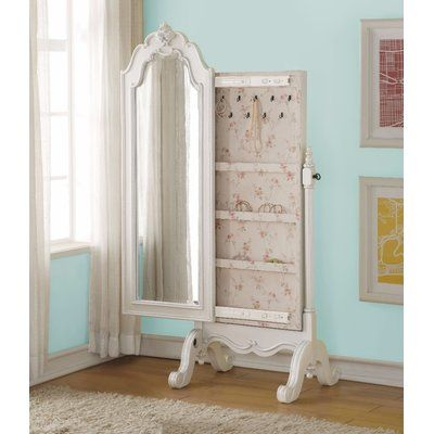 Rosdorf Park Lower Claverham Free Standing Jewelry Armoire With Mirror In 2020 Home Decor Bedroom Acme Furniture Furniture