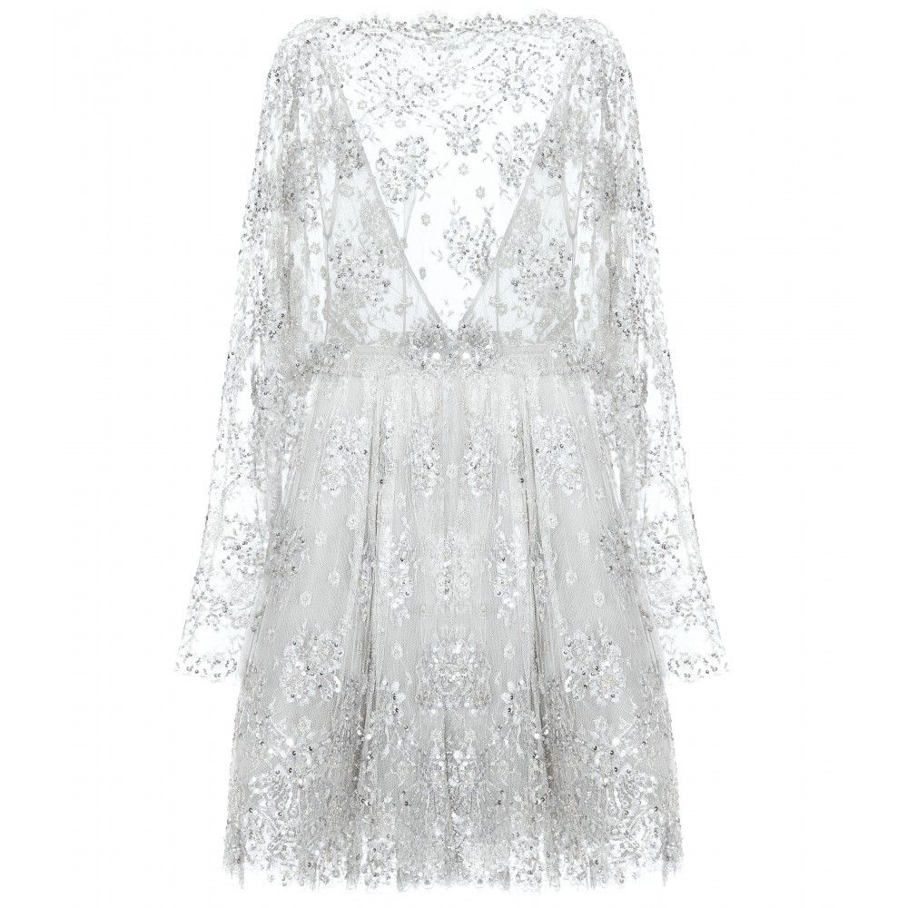 Zuhair murad embellished tulle dress the tulle design has a