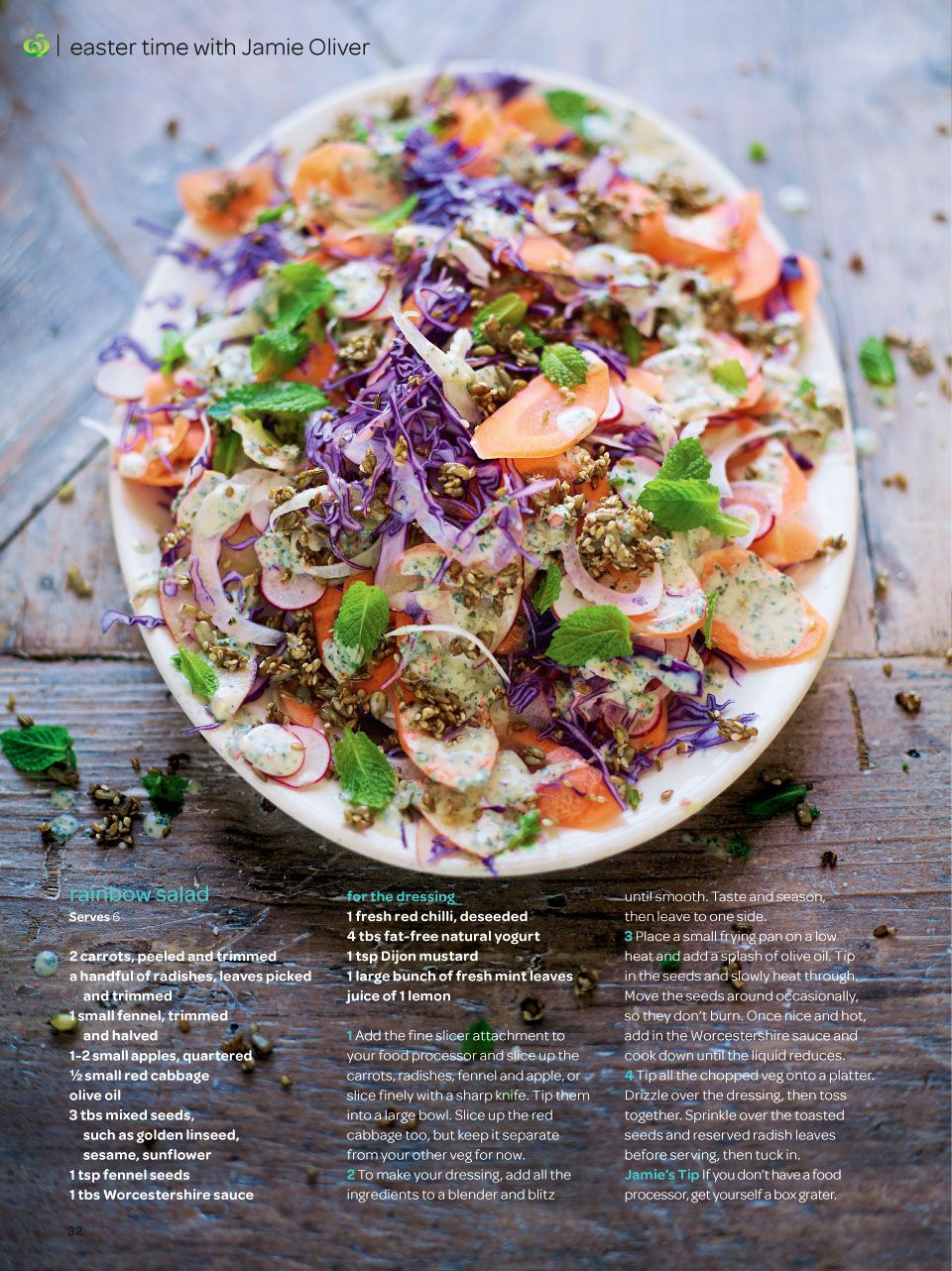 Recipe Rainbow Salad Rainbow Salad Recipes Jamie Oliver