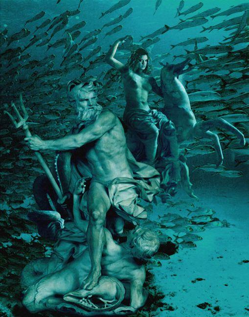 Poseidon Neptuno Dioses Griego Y Romano Es El Gran Dios Del Mar