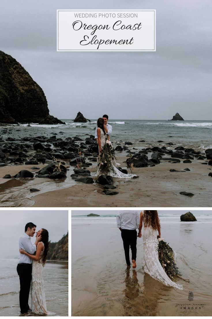 Typical Oregon Coast weather. We didn't complain one bit! Made for the best moments! If it involves some gorgeous lace that freely gets sandy and messy hair with flowers randomly throughout it, count me in! | Jessica Heron Images |  Olympic Peninsula based Destination Wedding Photographer