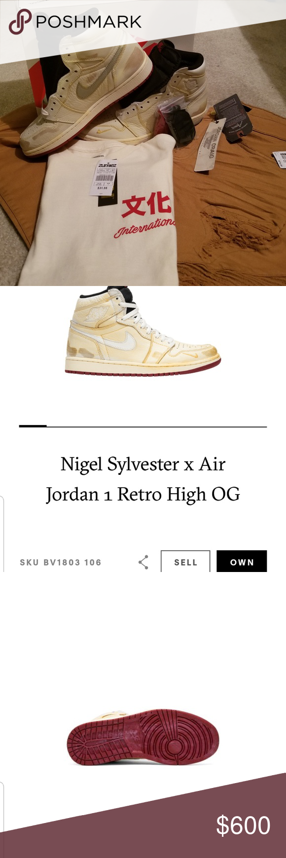 separation shoes 562fa 11fb8 Nigel Sylvester x Jordan s Retro 1 Size 11 and size 9US perfect condition  in a Box never seen feet nor ground 9  650 11575 Nike Shoes Sneakers