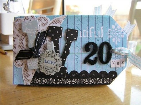 Creative Imaginations Ct Reveal 20 Years Scrapbook Paper Crafts Mini Scrapbook Cards Handmade