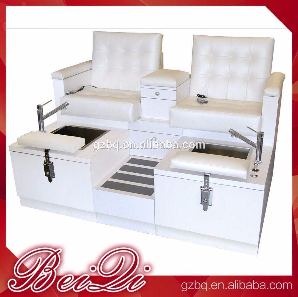 Pedicure chair dimensions - 2016 Beauty Salon Wholesale Manicure Pedicure Spa Massage Chair Foot Massage Sofa Chair Luxury Pedicure Chair