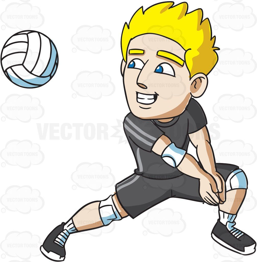 A Male Volleyball Player Preparing For A Forearm Pass Volleyball Players Volleyball Players