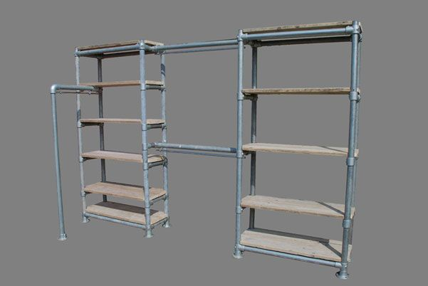 Meubels Met Steigerbuizen : Kast steigerhout en steigerbuizen meubels op maat bij cj meubels