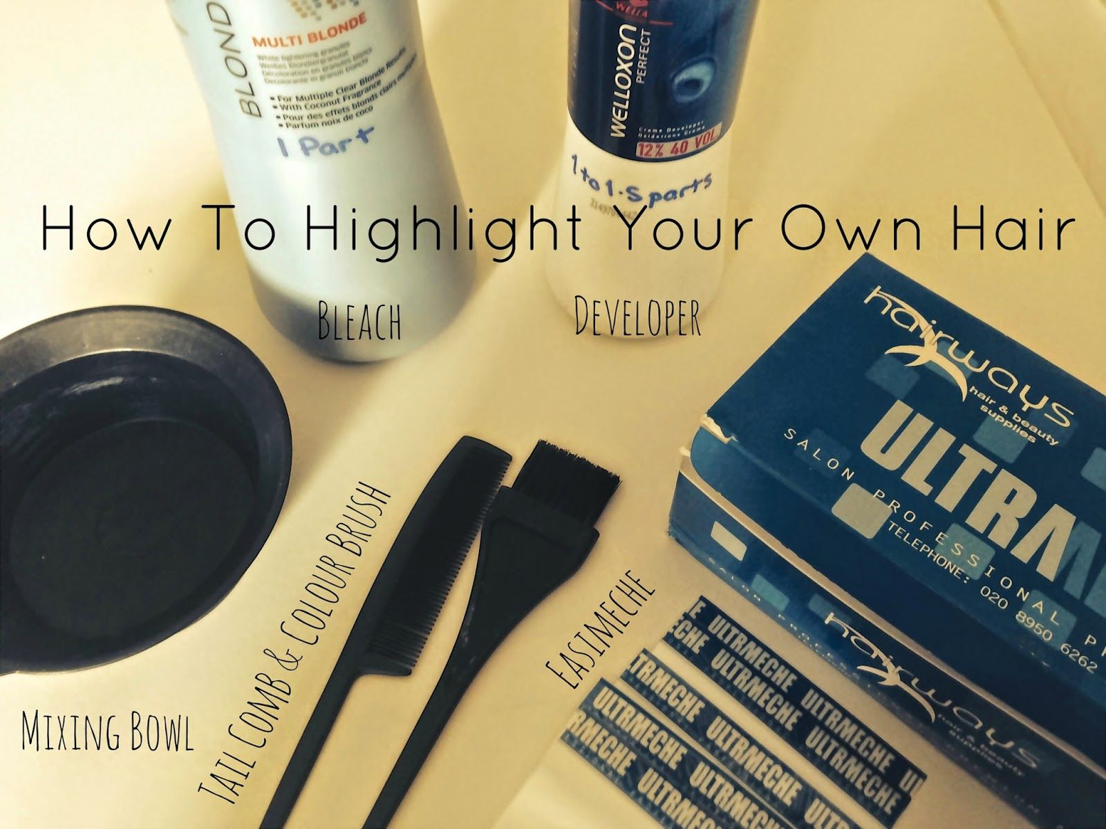 How To Highlightyour Own Hair Home Highlighting Sherrys Favorite