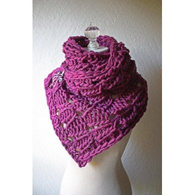 Chaine Cowl / Wrap Knitting pattern by Brenda Lavell | Knitting Patterns | LoveKnitting