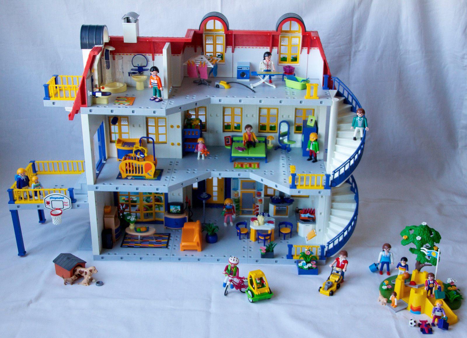 Playmobil 3965 modern house extension floor 7337 sets 3235 for Casa moderna de playmobil 123