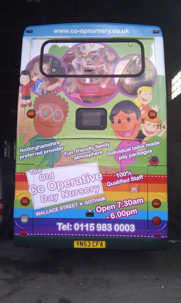 The Old Co-Operative Day Nursery turned their website design into an advertising campaign on buses! http://primarysite.net/news/26/61/Does-Everyone-Know-Your-School-Is-Great.html