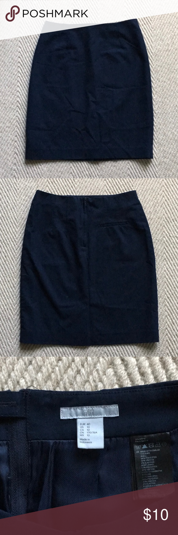 Fashion style Navy short blue pencil skirt for woman