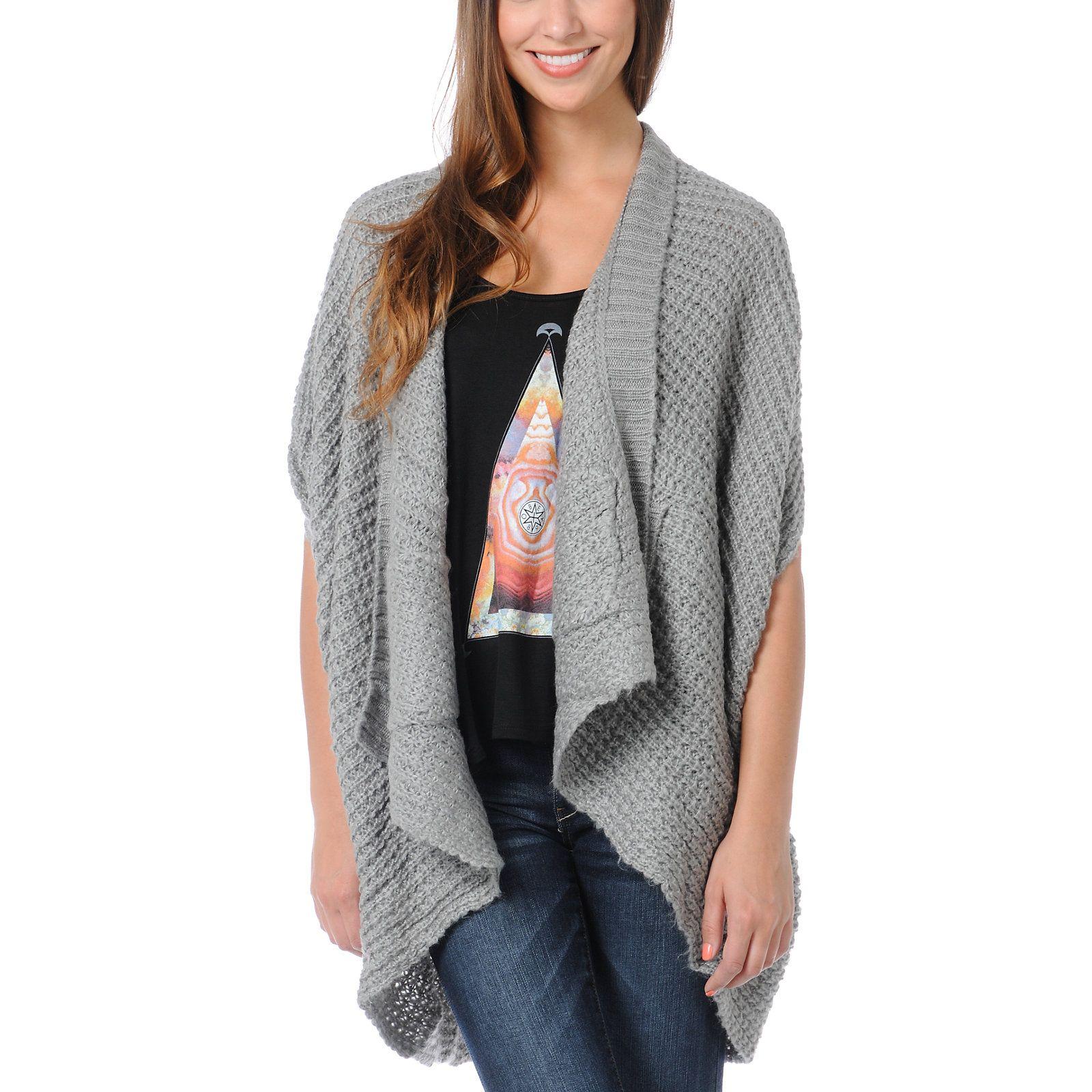 Element Estonia Grey Wrap Cardigan Sweater | Wrap cardigan, Wraps ...