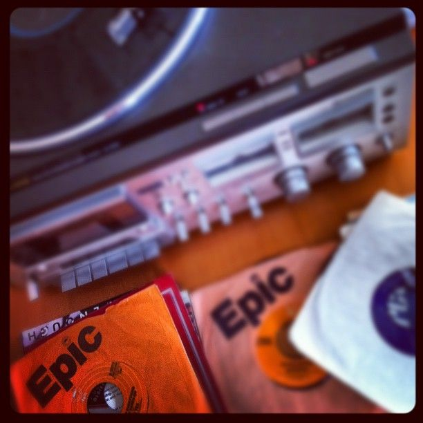 Epic Day listening to old vinyl