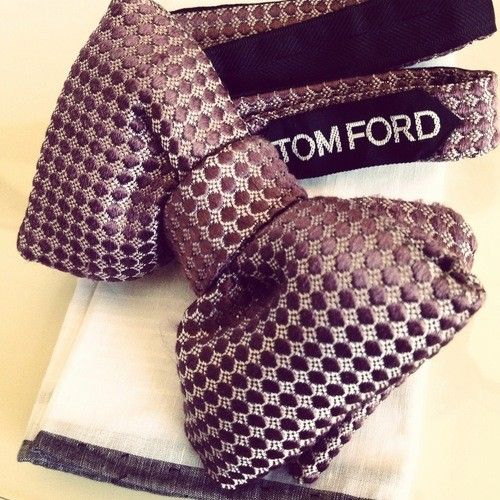 Tom Ford bow tie, real men accessorize! #theluxegen
