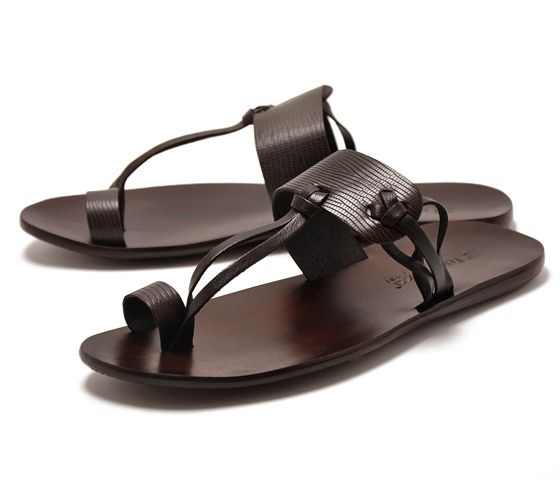 Sale 40%OFF FABIANO RICCI Fabiano Rich 9000 mens leather sandals dark brown fashion high-heel shoes for women