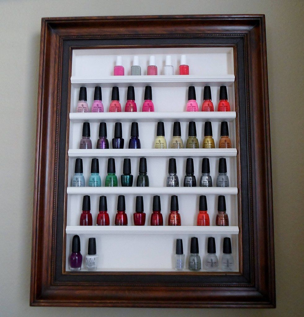 8 DIY Nail Polish Organizers For Your Growing Collection | Diy nail ...