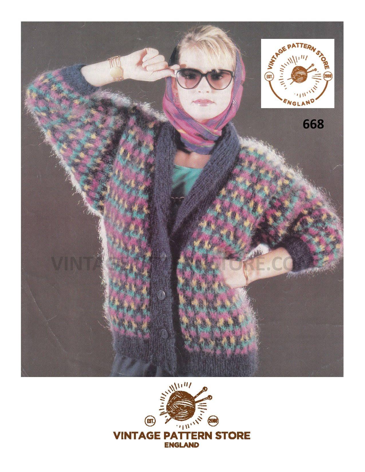 b3037a1bfe32 Ladies 90s cardigan knitting pattern