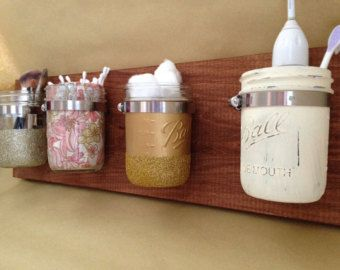 Vertical Mason Jar Wall Storage X2f Organizer Diy Mason Jar Decor Mason Jar Diy Jar Crafts