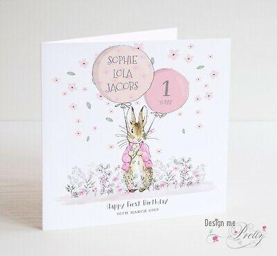 Peter Rabbit Girls Birthday Card