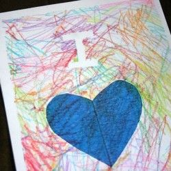 35 Uses for Crayons: They're not just for Coloring!- using this idea for my 2 year old to make daddy a father's day card.