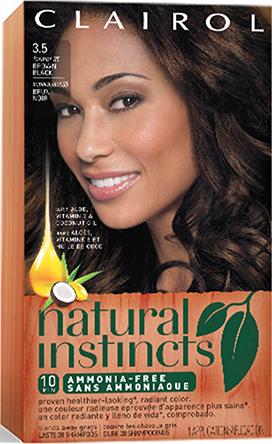 Natural Instincts Old 3 5 Ebony Mocha Brown Black Lqd Permanent Hair Color Clairol Natural Hair Color