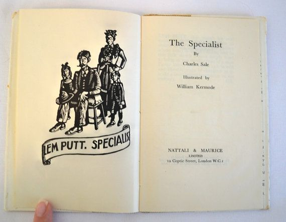 1930 The Specialist By Charles Sale Noels Vintage Books Vintage