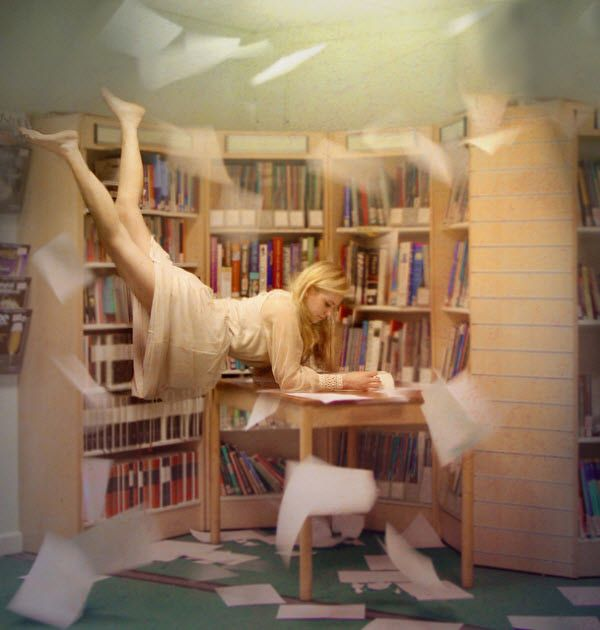 Books Can Take You Anywhere. A meaningful shot with warm colors, every photo with levitation effect tells a story. (Image Source: -Emillie-)