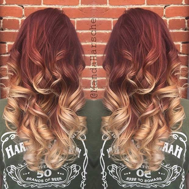 25 copper balayage hair ideas for fall stayglam. Black Bedroom Furniture Sets. Home Design Ideas