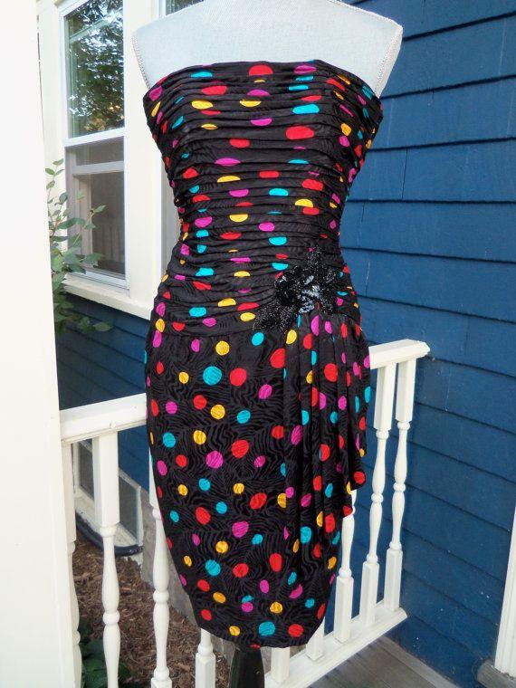 80s AJ BariSilk Polka Dot by vintagelovergirl on Etsy, $89.00
