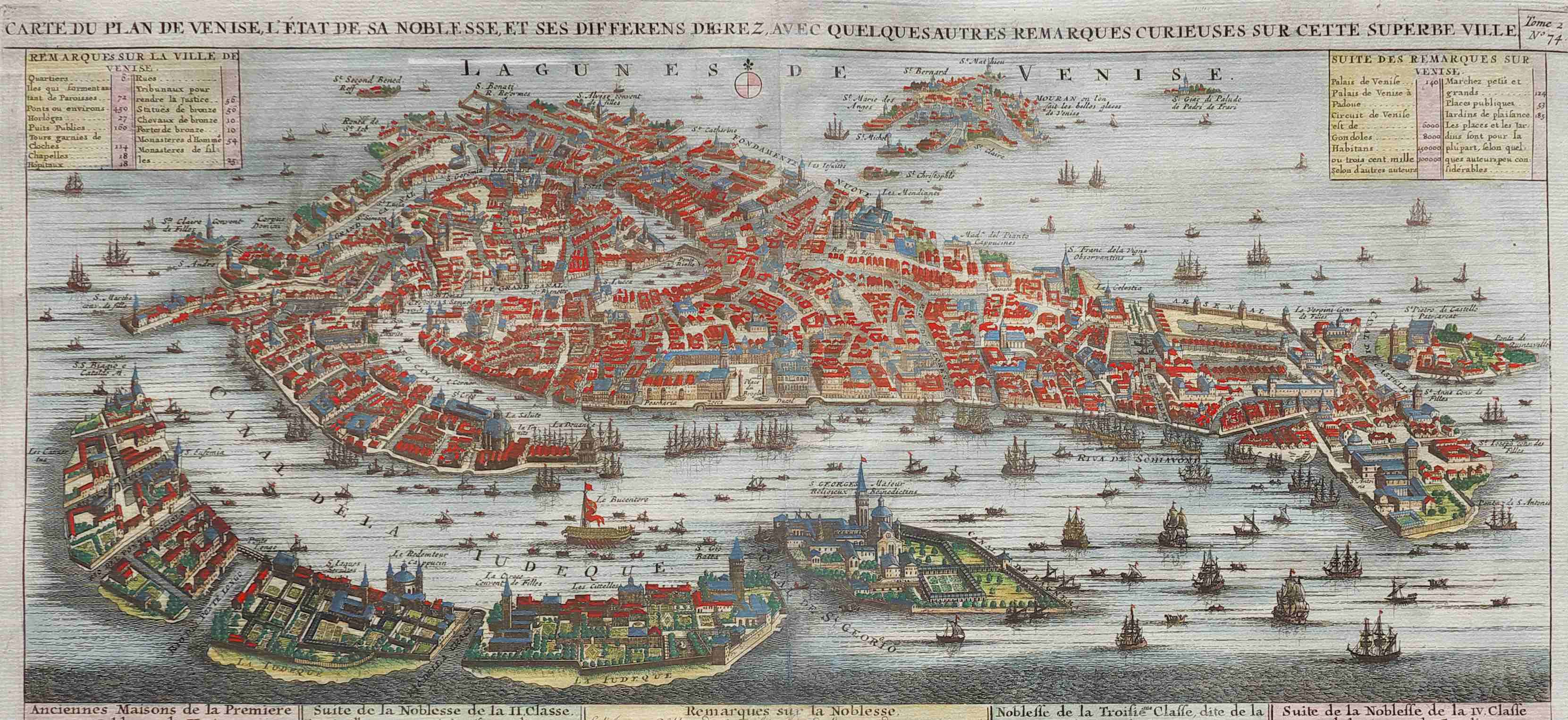 CHATELAIN'S STUNNING MAP VIEW OF VENICE 1719 || Michael ...