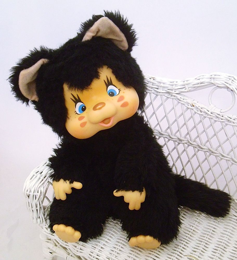 Adorable Felina Nyamy Kitten Xxl Monchichi Reserved For Elora Dana Plush Animals Cuddles And Snuggles Kitten