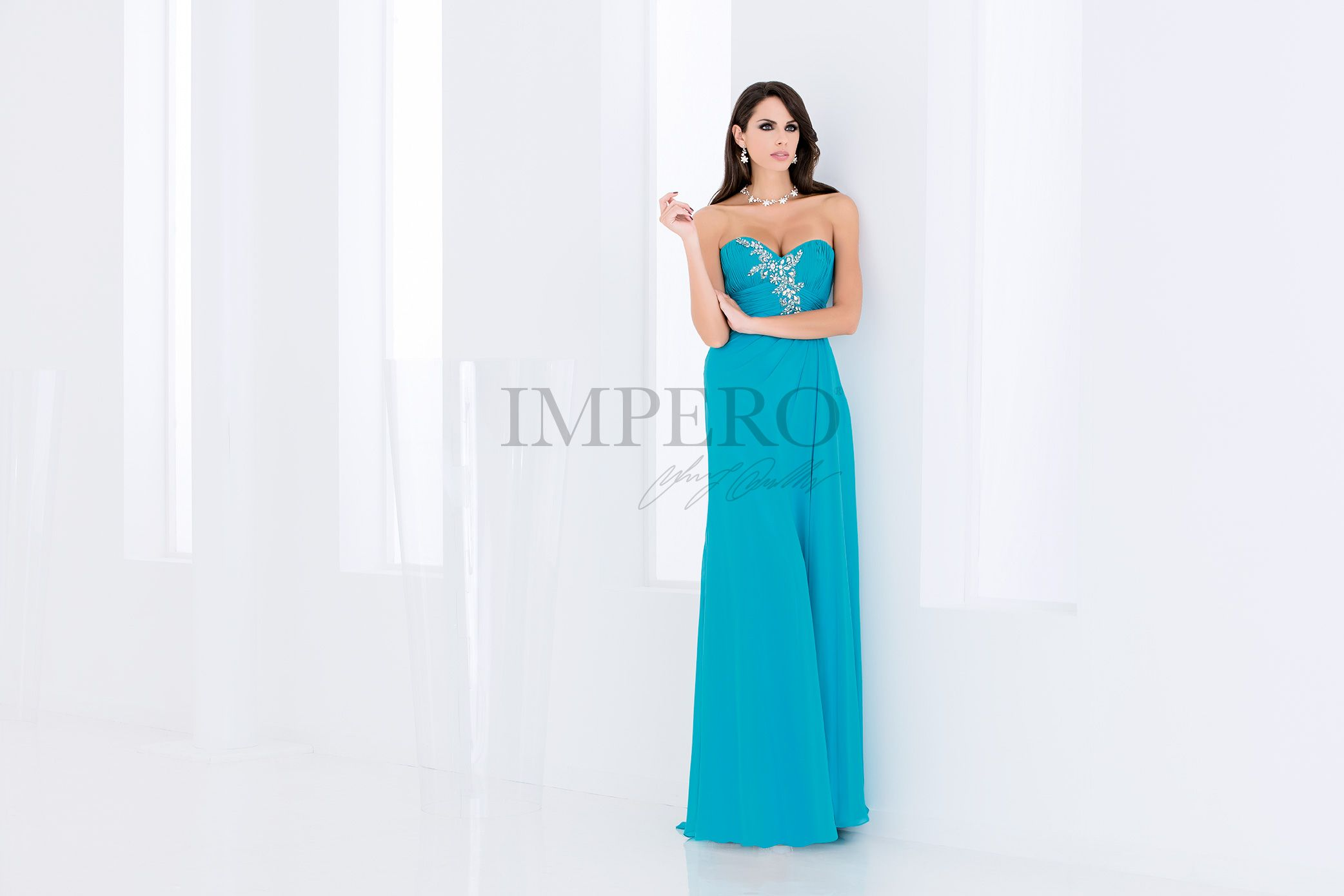 a8fe87078f40 IMPERO 5  abiti  dress  wedding  matrimonio  cerimonia  party  event   damigelle  turchese  turquoise