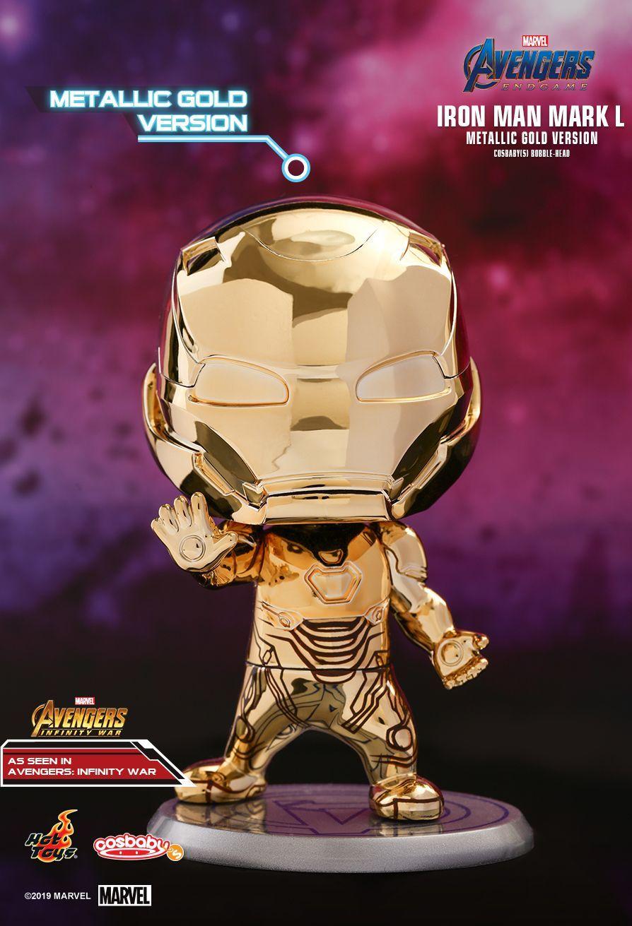 Thanos Golden Armor Figure Hot Toys Cosbaby Bobble-Head Avengers:Endgame Doll