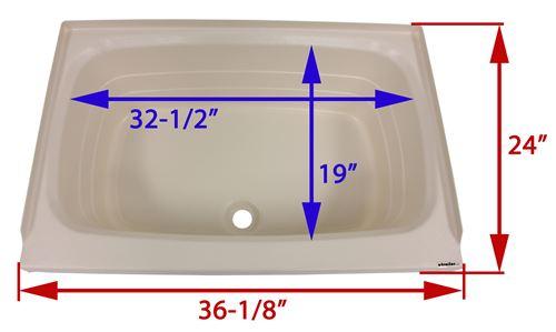 Better Bath Rv Bathtub Center Drain 36 1 8 Long X 24 Wide