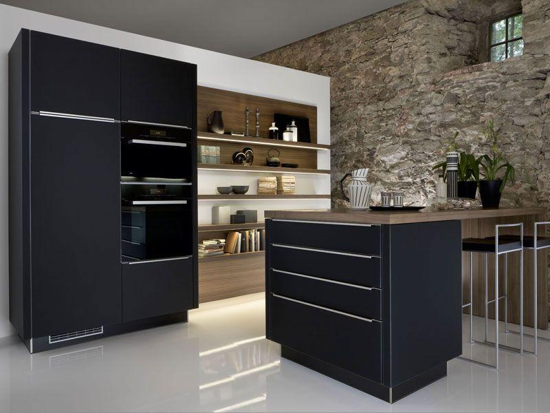 Farbe und Licht in der Küche - http\/\/wwwexklusiv-immobilien - kche schwarz matt