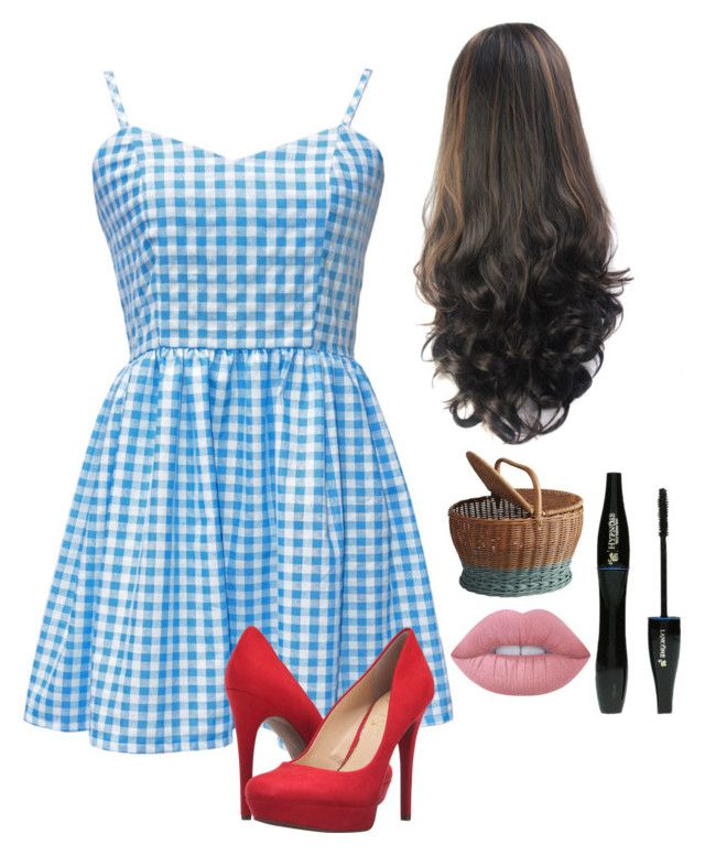 """""""Dorothy- Wizard of Oz"""" by an-internet-girl ❤ liked on Polyvore featuring Jessica Simpson, Pier 1 Imports, Lancôme, Lime Crime, fandom and Dorothy"""