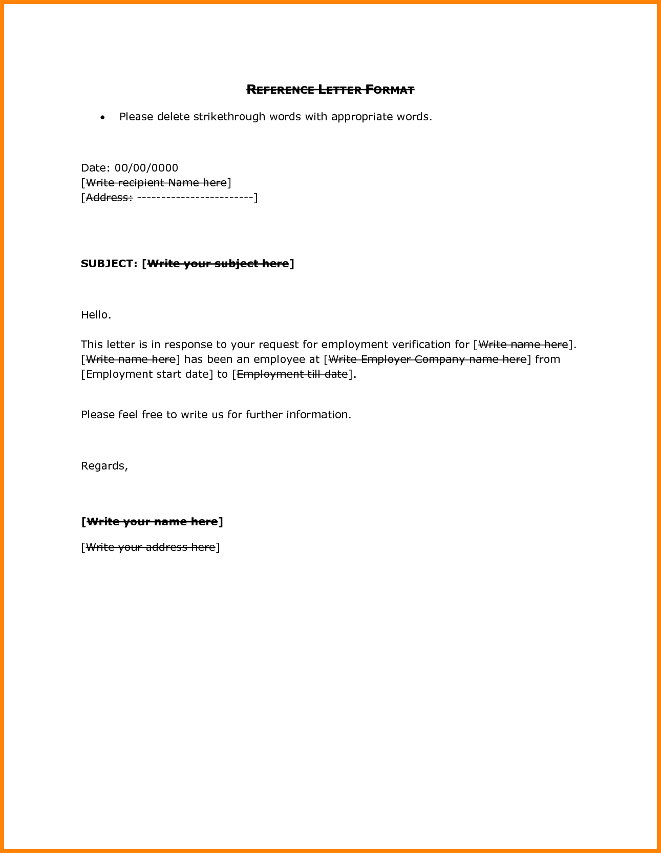 Letter Template Sample Employee Reference Format Balance Sheet